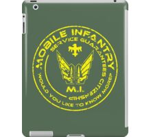 Starship Troopers - Mobile Infantry Patch iPad Case/Skin