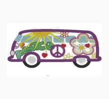 Hippie Bus 60's style One Piece - Short Sleeve