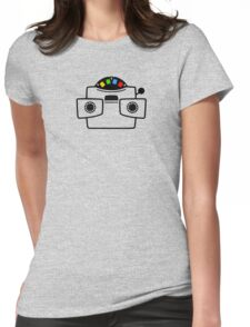 Viewmaster Black Colours Womens Fitted T-Shirt