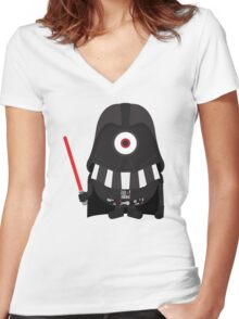 Vader Minion Women's Fitted V-Neck T-Shirt