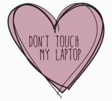 Don't touch my laptop One Piece - Short Sleeve