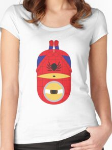 Spiderman Minion Women's Fitted Scoop T-Shirt