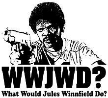 WWJWD What Would Jules Do Photographic Print