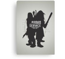 At Your Service Canvas Print