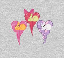 cutie mark crusaders Hearts Womens Fitted T-Shirt