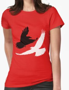Black Crow, White Raven. Womens Fitted T-Shirt