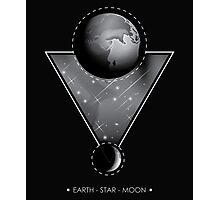 The earth star and moon Photographic Print