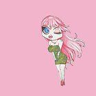 Pink hair girl by kandikittin
