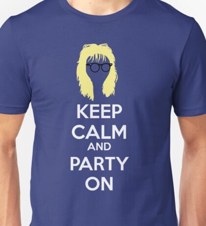 Keep Calm, and Party On Unisex T-Shirt