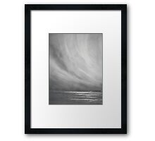 Coastal study in monochrome Framed Print