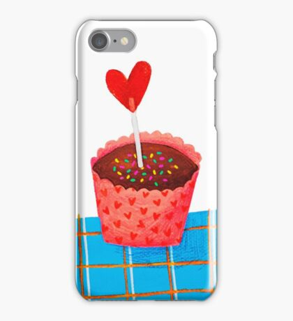 cupcake means love  iPhone Case/Skin