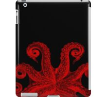 Red Vintage Octopus Tentacles Illustration iPad Case/Skin