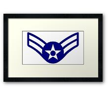 AIR FORCE, AIRMAN, FIRST CLASS, USA, US, America, American Framed Print