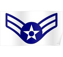 AIRMAN, FIRST CLASS, USA, US, America, American Poster