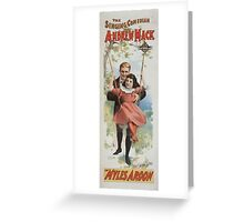 Performing Arts Posters The singing comedian Andrew Mack in Myles Aroon 0732 Greeting Card