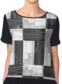 """""""Merge Sort Algorithm in Black and White""""© Chiffon Top"""