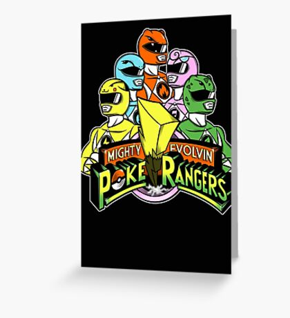 Poke Rangers Greeting Card