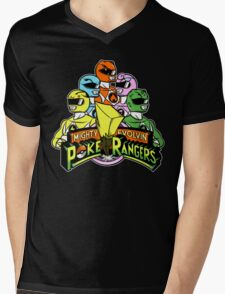 Poke Rangers Mens V-Neck T-Shirt