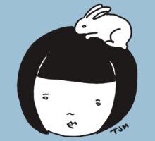 Bunnygirl (B&W) Kids Clothes