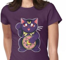 Lucky Lunar Cat Womens Fitted T-Shirt