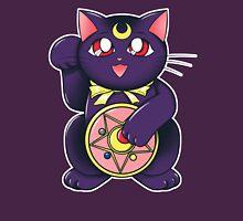 Lucky Lunar Cat Womens Fitted T-Shirt