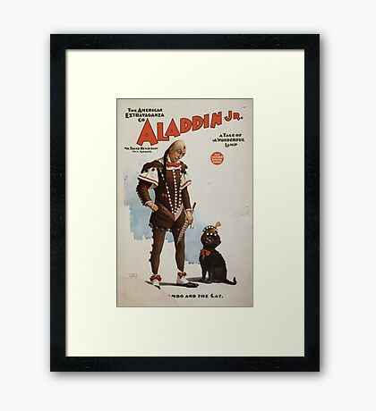 Performing Arts Posters Aladdin Jr a tale of a wonderful lamp 0694 Framed Print