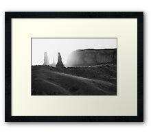 Three Sisters, Monument Valley, Utah Framed Print