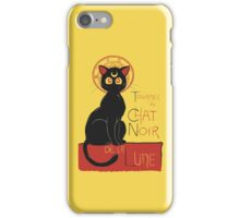 Chat Noir de la Lune iPhone Case/Skin