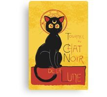 Chat Noir de la Lune Canvas Print