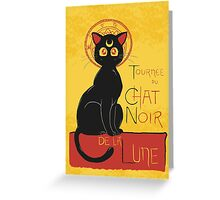 Chat Noir de la Lune Greeting Card
