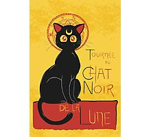 Chat Noir de la Lune Photographic Print