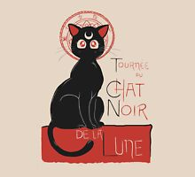 Chat Noir de la Lune Womens Fitted T-Shirt