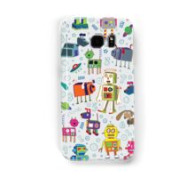 Robots in Space - grey Samsung Galaxy Case/Skin