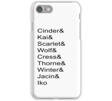Lunar Chronicles Characters iPhone Case/Skin