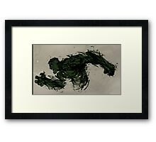 Strong Green Hulk Framed Print