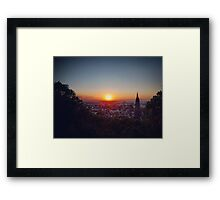 Freiburg Germany Sunset Framed Print