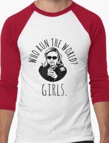Hillary Clinton Who Run The World Men's Baseball ¾ T-Shirt