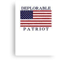 Deplorable Patriot Blue Canvas Print