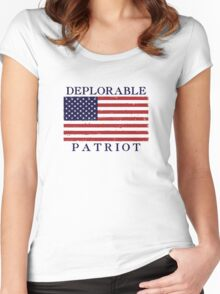 Deplorable Patriot Blue Women's Fitted Scoop T-Shirt