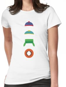 Minimalist cool south park design Womens Fitted T-Shirt