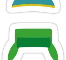 Minimalist cool south park design Sticker