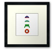 Minimalist cool south park design Framed Print
