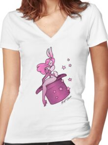 Magic Show  Women's Fitted V-Neck T-Shirt