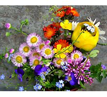 Summer  Wildflowers Bouquet Photographic Print