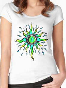 Crazy Eye Women's Fitted Scoop T-Shirt