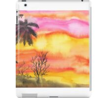 Watercolor landscape iPad Case/Skin