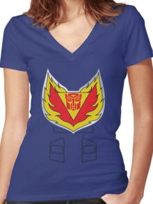 Tracks - Transformers 80s Women's Fitted V-Neck T-Shirt