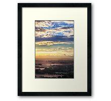 Sunset over Oxfordshire Framed Print