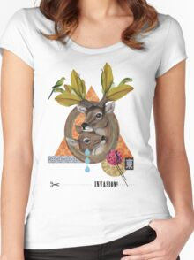 Animal Collection -- Oh Deer Women's Fitted Scoop T-Shirt