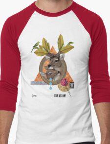 Animal Collection -- Oh Deer Men's Baseball ¾ T-Shirt